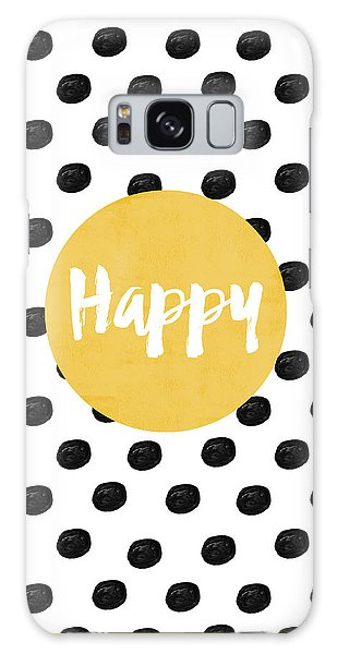 Galaxy Case - Happy Yellow And Dots by Allyson Johnson