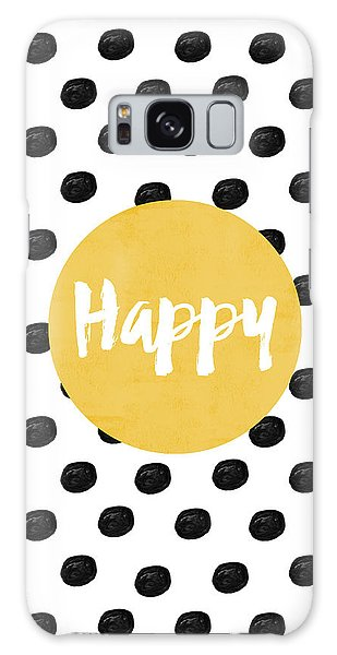 Bright Galaxy Case - Happy Yellow And Dots by Allyson Johnson