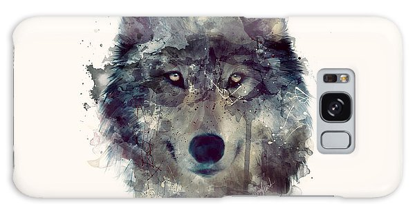 Forest Galaxy Case - Wolf // Persevere by Amy Hamilton