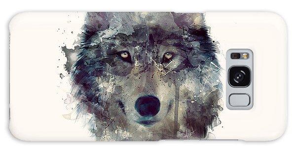 Wild Animals Galaxy Case - Wolf // Persevere by Amy Hamilton