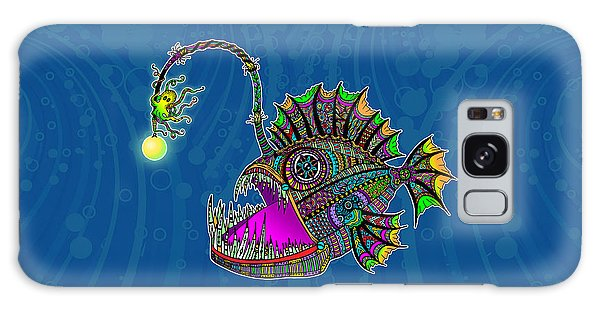 Electric Angler Fish Galaxy Case by Tammy Wetzel