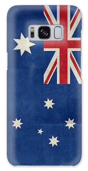 Australian Flag Vintage Retro Style Galaxy Case by Bruce Stanfield
