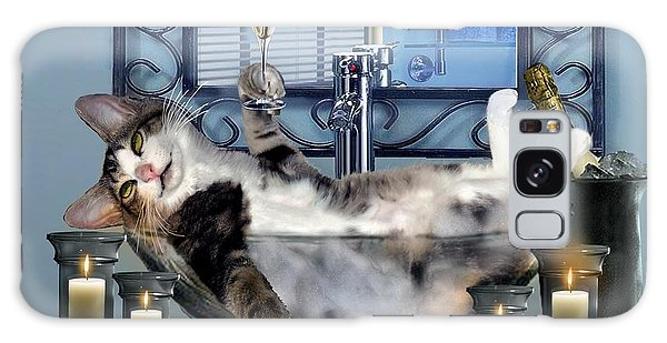 Card Galaxy S8 Case - Funny Pet Print With A Tipsy Kitty  by Regina Femrite
