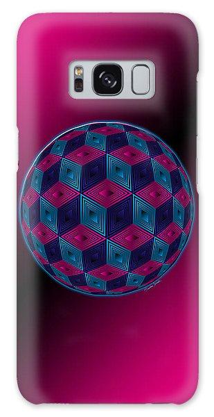 Spherized Pink Purple Blue And Black Hexa Galaxy Case