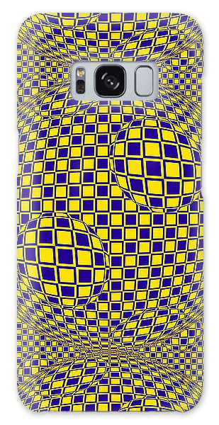 Purple And Yellow Sphere Untitled Galaxy Case