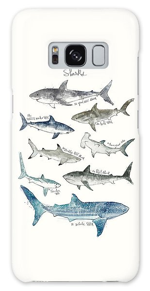 Sharks Galaxy Case - Sharks by Amy Hamilton