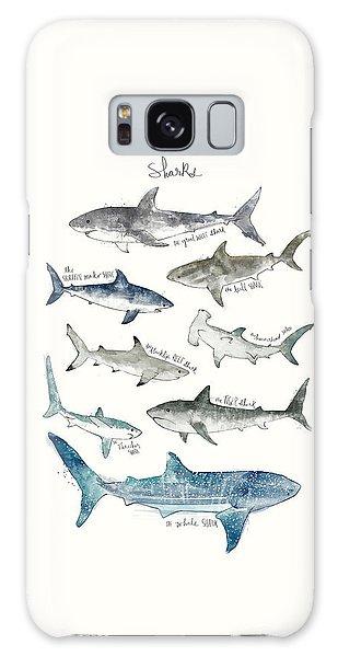 Fish Galaxy S8 Case - Sharks by Amy Hamilton
