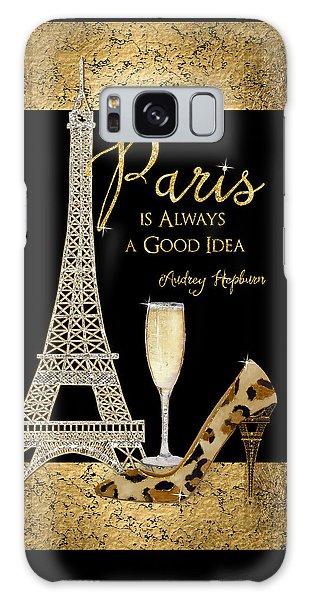 Paris Is Always A Good Idea - Audrey Hepburn Galaxy Case by Audrey Jeanne Roberts