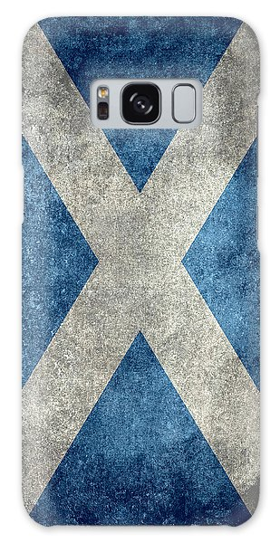 National Flag Of Scotland Vintage Version Galaxy Case