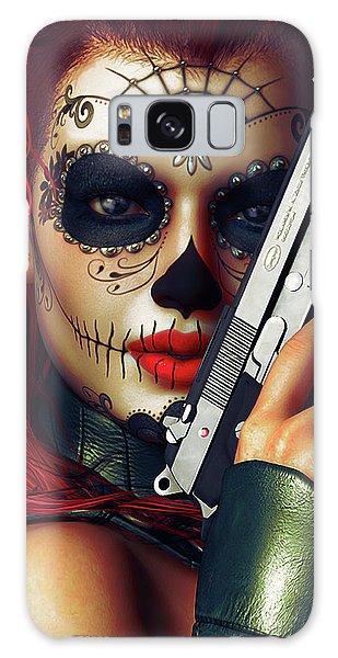 Calavera Galaxy Case - Sugar Doll Long Night Of The Dead by Shanina Conway