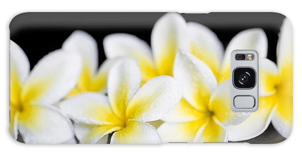 Galaxy Case featuring the photograph Plumeria Obtusa Singapore White by Sharon Mau