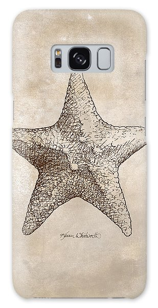 Distressed Antique Nautical Starfish Galaxy Case