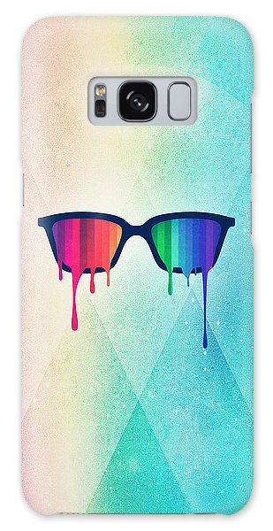 Glass Galaxy Case - Love Wins Rainbow - Spectrum Pride Hipster Nerd Glasses by Philipp Rietz