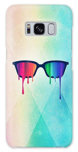 Splash Galaxy Case - Love Wins Rainbow - Spectrum Pride Hipster Nerd Glasses by Philipp Rietz