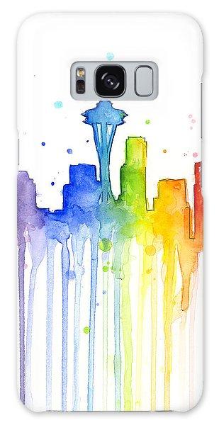Rainbow Galaxy Case - Seattle Rainbow Watercolor by Olga Shvartsur