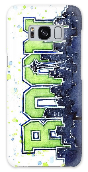 Hawk Galaxy Case - Seattle 12th Man Legion Of Boom Painting by Olga Shvartsur