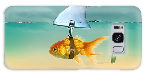 Vector Galaxy Case - Gold Fish  by Mark Ashkenazi