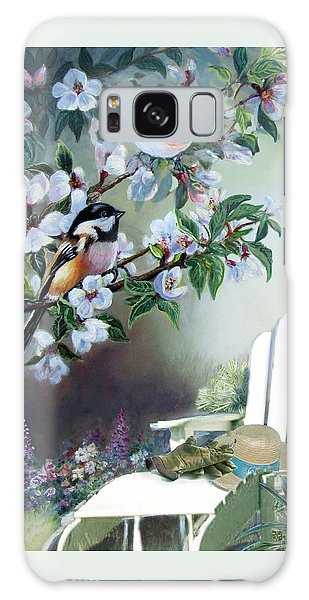 Chickadees In Blossom Tree Galaxy S8 Case
