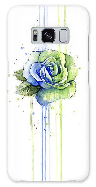 Hawk Galaxy Case - Seattle 12th Man Seahawks Watercolor Rose by Olga Shvartsur