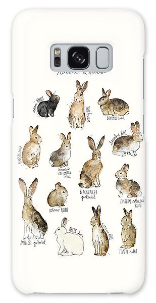 Wilderness Galaxy Case - Rabbits And Hares by Amy Hamilton