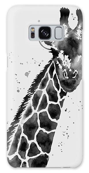 Tall Galaxy Case - Giraffe In Black And White by Hailey E Herrera