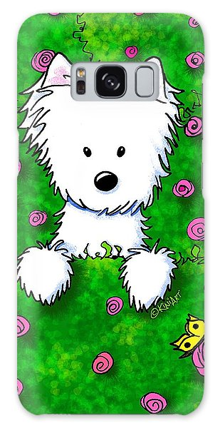 Westie In Roses Galaxy Case