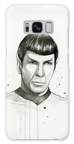 Nerd Galaxy Case - Spock Watercolor Portrait by Olga Shvartsur