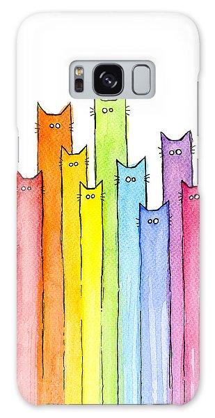 Rainbow Galaxy Case - Rainbow Of Cats by Olga Shvartsur