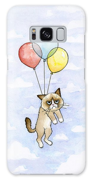 Cat Galaxy Case - Grumpy Cat And Balloons by Olga Shvartsur