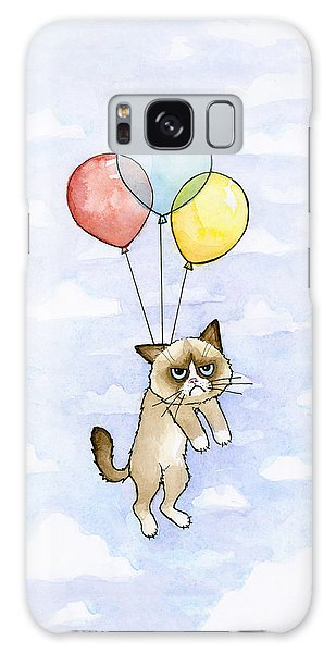 Grumpy Cat And Balloons Galaxy Case