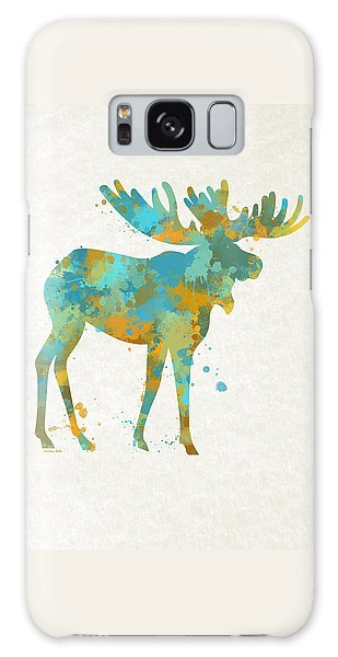 Moose Watercolor Art Galaxy Case