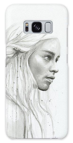 Dragon Galaxy S8 Case - Daenerys Watercolor Portrait by Olga Shvartsur