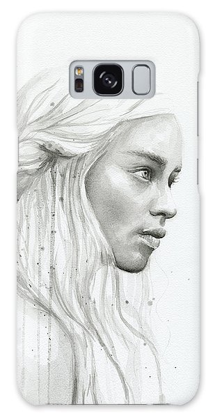 Dragon Galaxy S8 Case - Daenerys Watercolor Portrait by Olga Shvartsur
