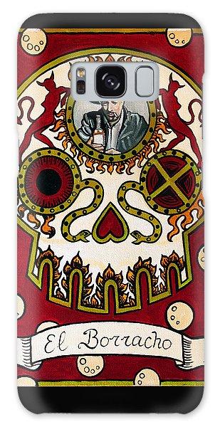 Calavera Galaxy Case - El Borracho - The Drunk by Mix Luera