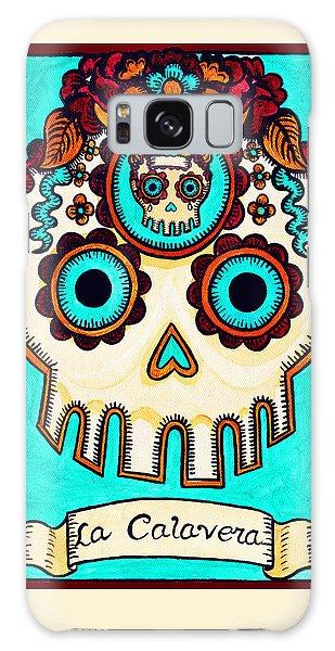Calavera Galaxy Case - La Calavera - The Skull by Mix Luera