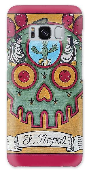 Calavera Galaxy Case - El Nopal - The Cactus by Mix Luera