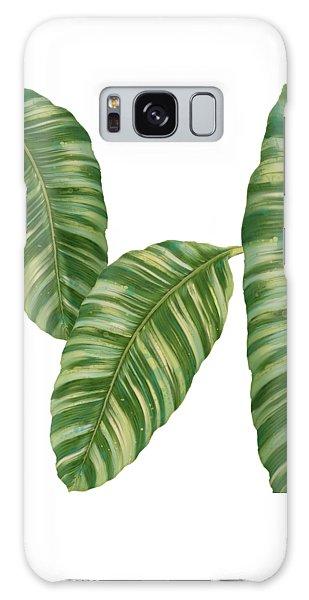 Rainforest Resort - Tropical Banana Leaf  Galaxy Case