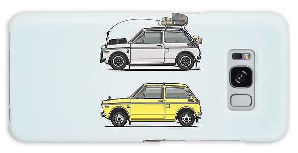 Sixties Galaxy Case - Stack Of Honda N360 N600 Kei Cars by Monkey Crisis On Mars