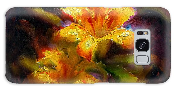Daylily Sunshine - Colorful Tiger Lily/orange Day-lily Floral Still Life  Galaxy Case