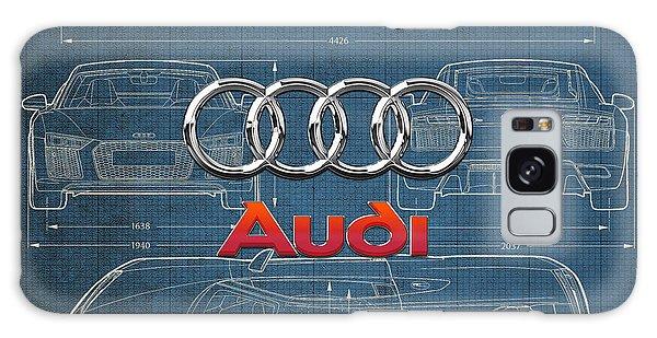 Automotive Galaxy Case - Audi 3 D Badge Over 2016 Audi R 8 Blueprint by Serge Averbukh