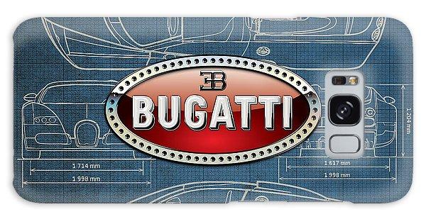 Automotive Galaxy Case - Bugatti 3 D Badge Over Bugatti Veyron Grand Sport Blueprint  by Serge Averbukh