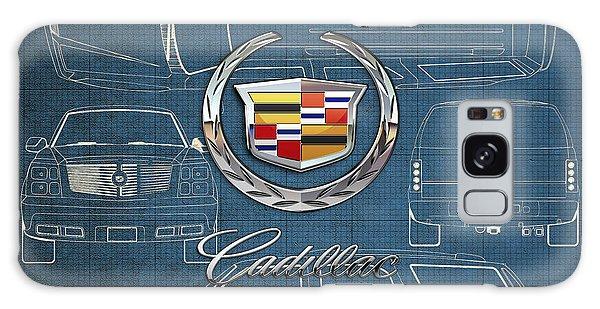 Automotive Galaxy Case - Cadillac 3 D Badge Over Cadillac Escalade Blueprint  by Serge Averbukh