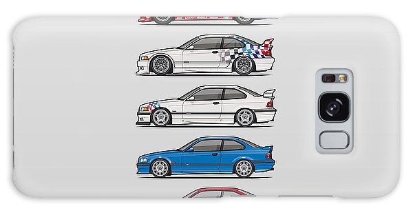 Made Galaxy Case - Stack Of Bmw 3 Series E36 Coupes by Monkey Crisis On Mars