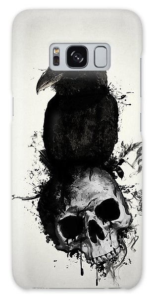 Galaxy Case - Raven And Skull by Nicklas Gustafsson