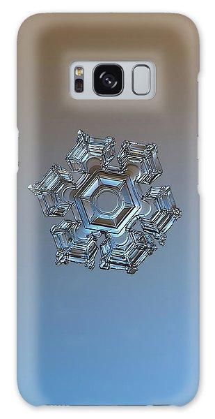 Snowflake Photo - Cold Metal Galaxy Case