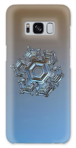 Galaxy Case featuring the photograph Snowflake Photo - Cold Metal by Alexey Kljatov