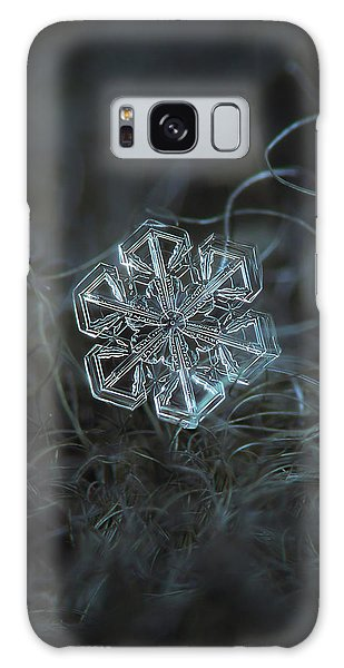 Galaxy Case featuring the photograph Snowflake Photo - Alcor by Alexey Kljatov