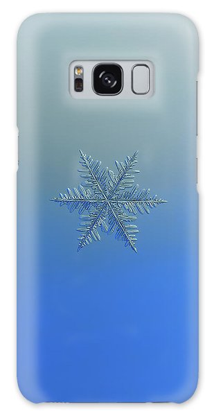 Galaxy Case featuring the photograph Snowflake Photo - Winter Is Coming by Alexey Kljatov