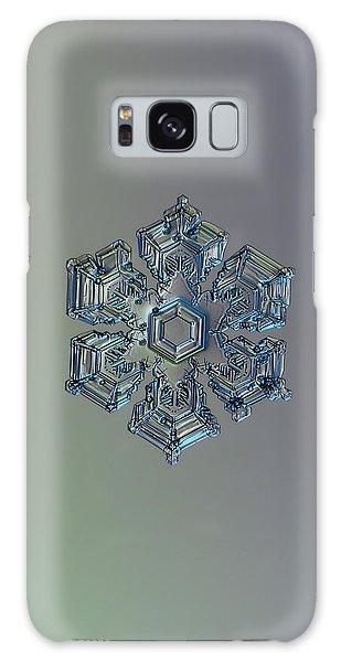 Snowflake Photo - Silver Foil Galaxy Case