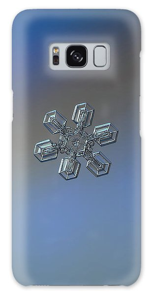 Galaxy Case featuring the photograph Snowflake Photo - High Voltage by Alexey Kljatov